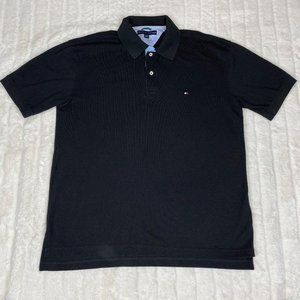 Tommy Hilfiger Polo Black Collared Shirt